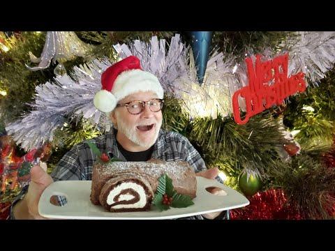 bÛche-de-noËl-au-chocolat-keto!-sans-gluten,-sans-sucre,-faible-en-calories-&-glucides-les-macros