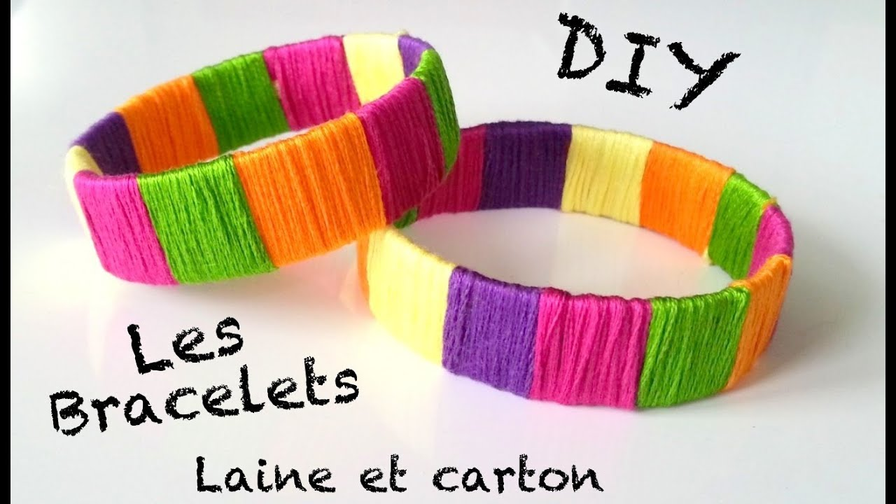 diy cr ation bracelet avec du papier et de la laine youtube. Black Bedroom Furniture Sets. Home Design Ideas