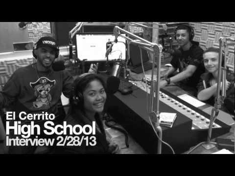 Radio interview at El Cerrito High School