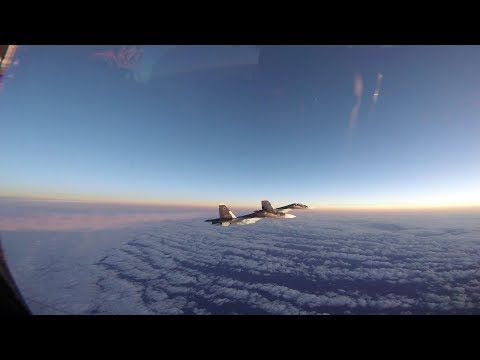 US Air Force F-15 Eagle Jets Intercept Russian Navy SU-30 Flankers During Baltic Air Policing