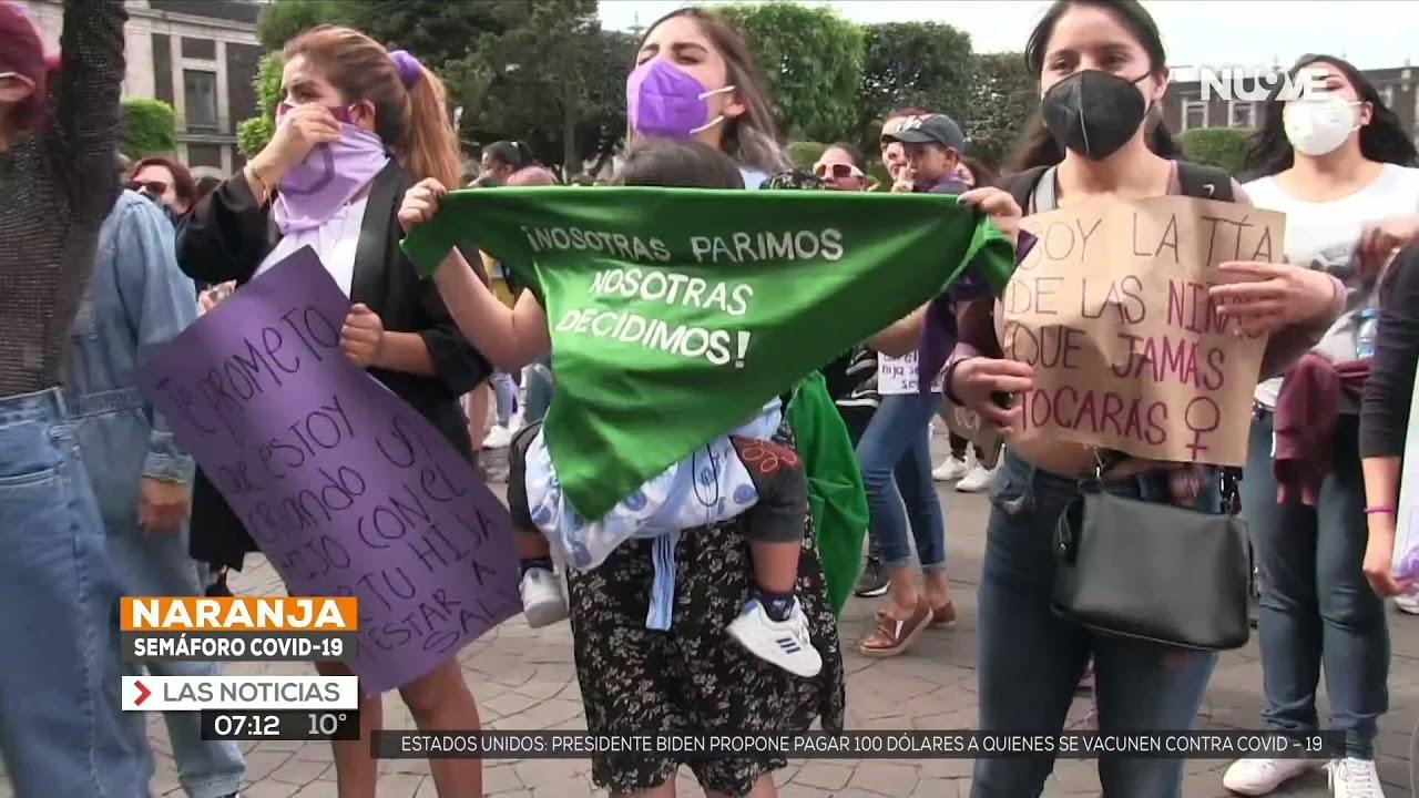 Piden feministas aprobar interrupción del embarazo en EDOMEX.