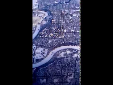 Flying over Edmonton, Alberta January 2014