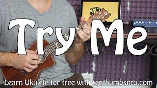 try me james brown easy finger picking beginner ukulele tutorial