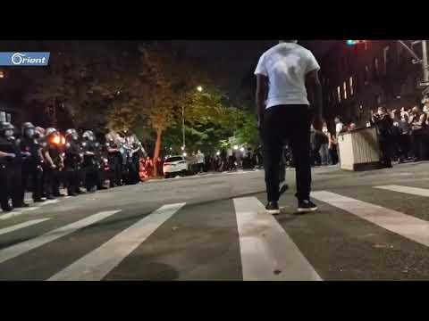 مروحية تقترب من رؤوس المتظاهرين في شوارع واشنطن و تدفعهم للانبطاح أرضا  - 16:00-2020 / 6 / 3
