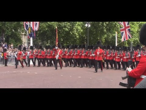 Trooping the Colour 2017; Guards parading and Flypast