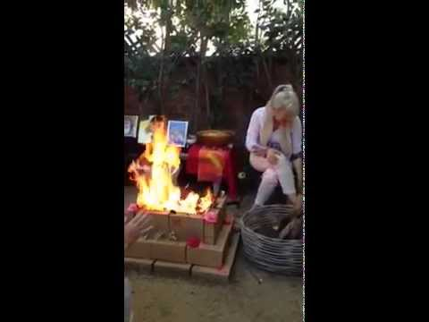 Taste of a healing fire homa (ceremony)