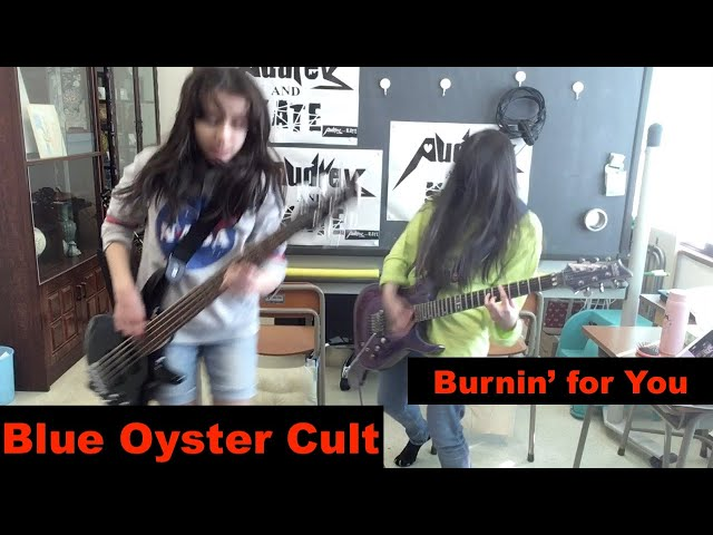 Blue Oyster Cult - Burnin' for You - lefty guitar + bass ブルー・オイスター・カルト #cover