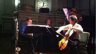 LCCE performs Eric Zivian Trio for Clarinet, Cello, and Piano (1st movement)