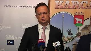 Szijjártó Péter külgazdasági és külügyminiszter Karcagon