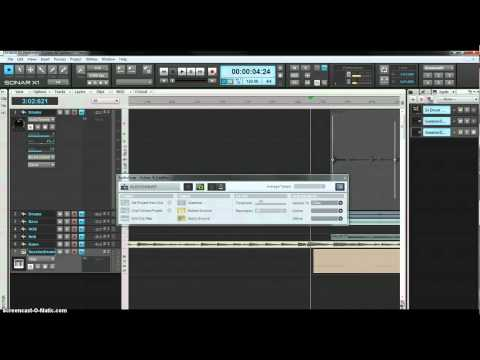 Sonar X1 Audio to MIDI Drum Track Conversion