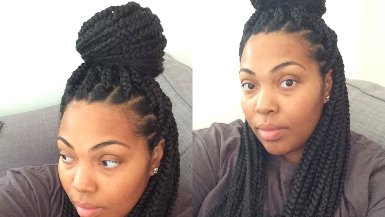 How To Box Braid Your Own Hair And Keep Your Edges Youtube