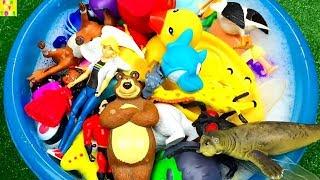 #LearnAnimalsColors | Wild Animals Toys For Kids Part 3 | 야생 동물 완구 어린이 3 부를위한
