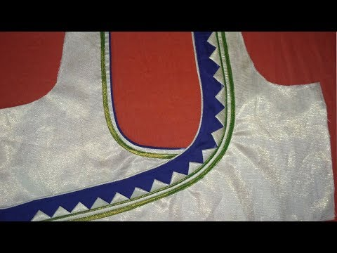 Easy and simple Blouse Designing at home