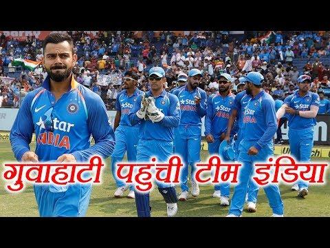 India vs Australia 2nd T20: Team reaches Guwahati for 2nd T20 match | वनइंडिया हिंदी
