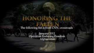 """Honoring The Fallen From """"Operation Enduring Freedom""""January 2012"""