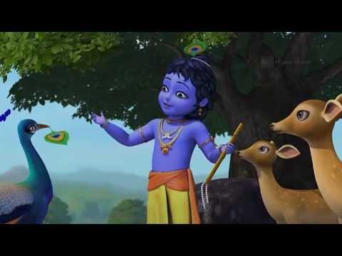 India Wallpaper 3d Hd Kiran Flute Little Krishna Krishna With The Peacock