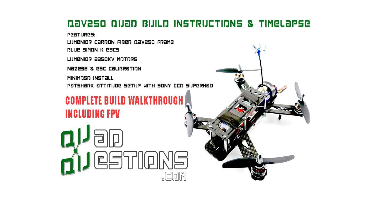 medium resolution of qav250 build video