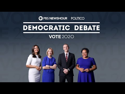 WATCH: The PBS NewsHour/POLITICO Democratic Debate
