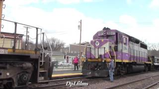 Pan Am Railways Rescues MBTA Work Train!!!
