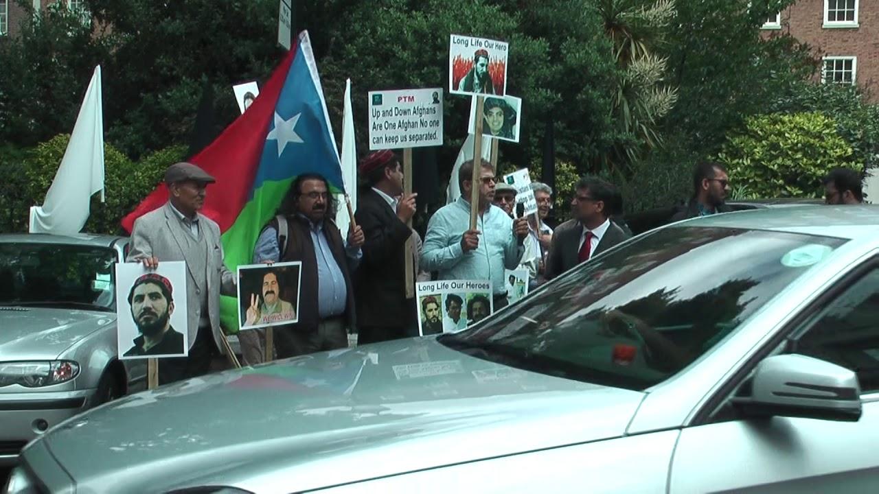 PTM Pashtun Tahafuz Movement protest outside Pakistan High Commission London