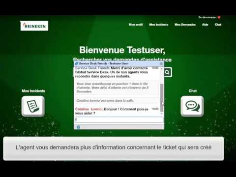 Astuce Global Service Desk  Chat - YouTube