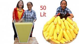 Bà Tân Vlog - Làm Cốc Sữa Bắp Siêu To Khổng Lồ 50 Lít