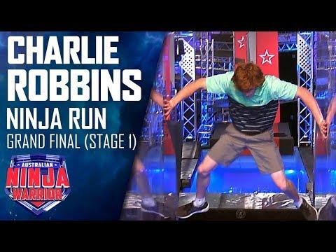 Charlie Robbins blitzes the Stage 1 course   Australian Ninja Warrior 2019