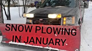 Snow Plowing in January
