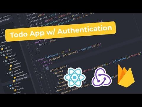 React Todo App w/ Firebase Auth - PART 1 - Basic Setup, Navbar & SideDrawer thumbnail