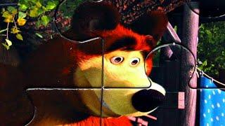 Маша и Медведь - Подкидыш - Когда все дома - собираем пазлы для детей из мультика маша и медведь