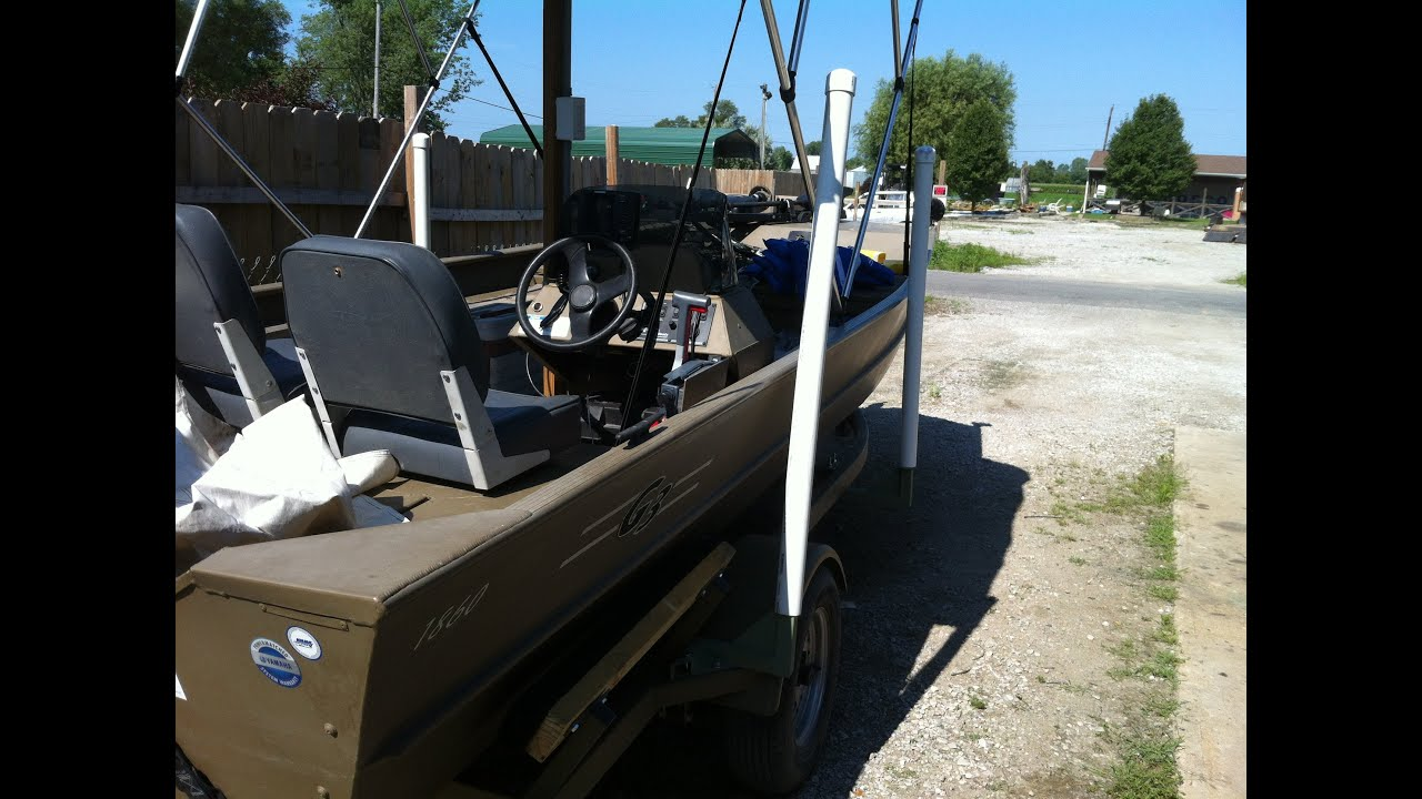 Building boat trailer guide posts and fitting trailer to boat - YouTube