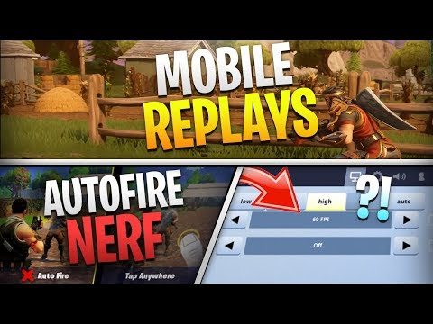 Fortnite Mobile News | Replay Mode, AutoFire, 60FPS On All IOS Devices, AND MORE!