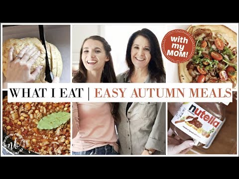 Cozy FALL MEALS ft. my VEGETARIAN MOM! | Homemade Bread, Crockpot Dinner  | WHAT I EAT