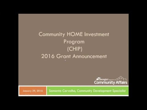 Georgia DCA CHIP Application Webinar 2016