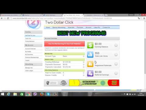 PROOF OF PAYMENT OF MONEY   TWO DOLLAR CLICK