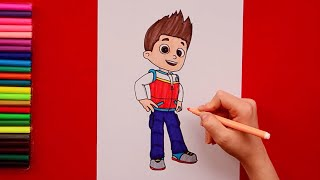 How to draw Ryder - Paw Patrol Characters