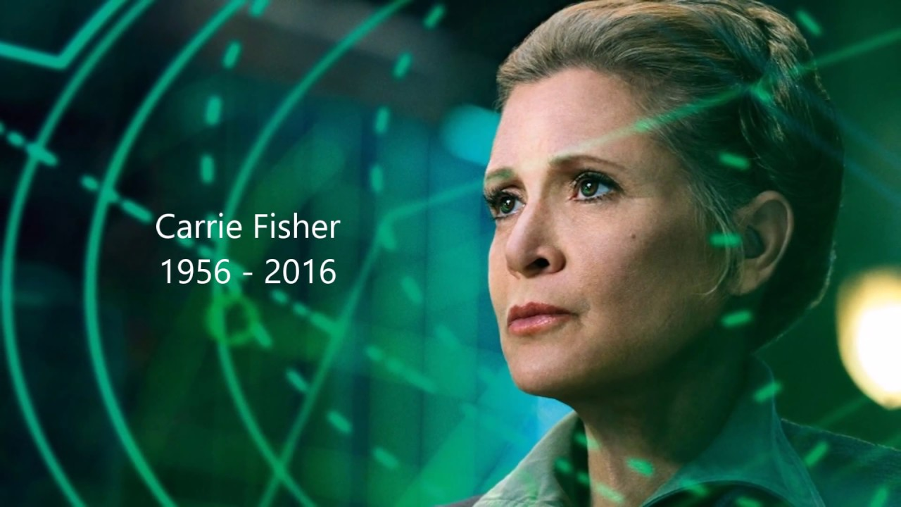 Image result for carrie fisher in memoriam