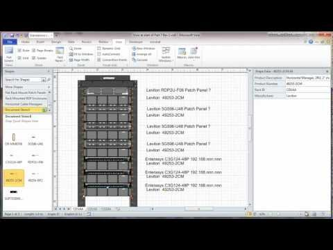 Visio 2010 Network Rack Diagram Tutorial - Part 7 - Adding Sheets