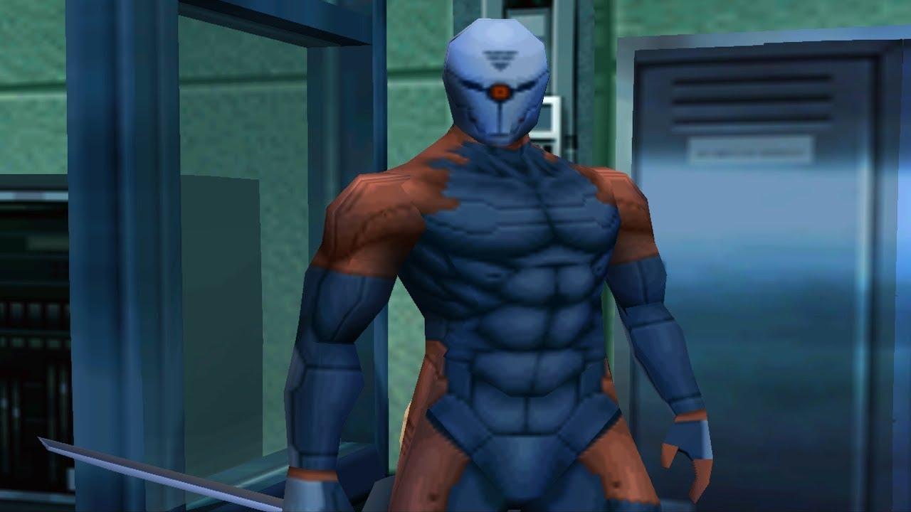 Metal Gear Solid: Cyborg Ninja (Grey Fox) Boss Fight - YouTube