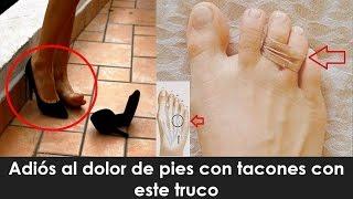 Un pie del entumecimiento tacones de dedo usar después en