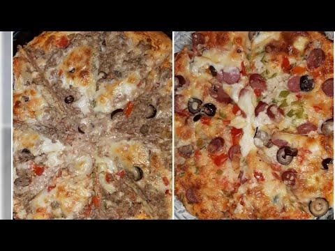 صورة  طريقة عمل البيتزا طريقه عمل بيتزا ايطالي بكل أسرارها وحركاتها بطعم سوسيس وتونه طريقة عمل البيتزا من يوتيوب