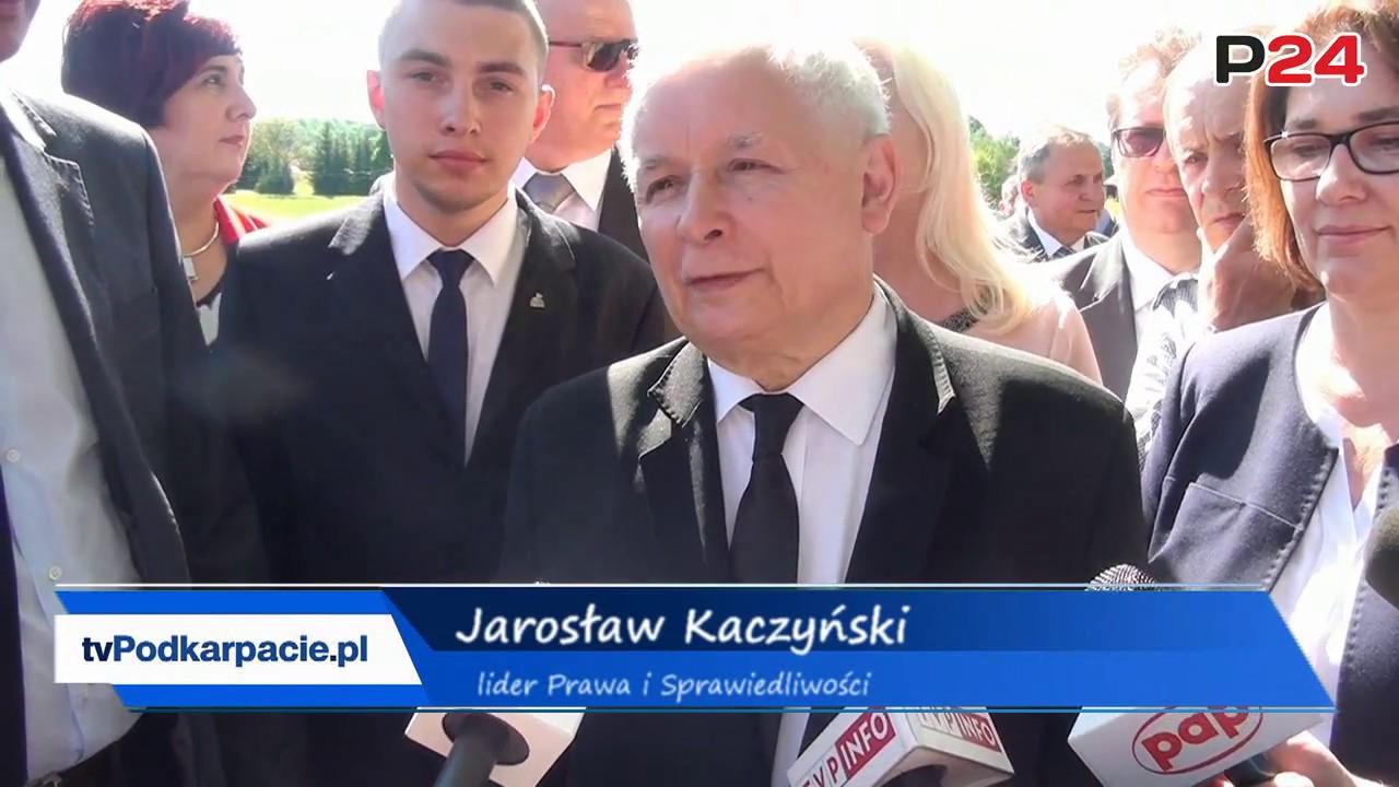 """Jarosław Kaczyński. """"Nie może być tak, że stolica regionu bierze wszystko"""" (FILM, ZDJĘCIA)"""