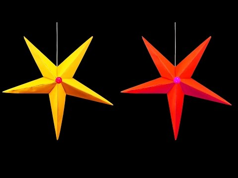 How to Make A Hanging Paper Star (Christmas Crafts) : HD