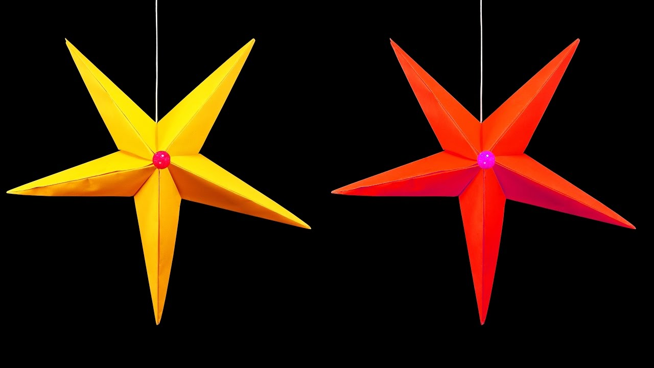 how to make a hanging paper star christmas crafts hd