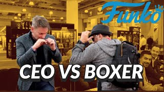CEO Of Funko Gets A Boxing Lesson From Professional Boxer Cletus Seldin