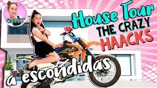 🏠 HOUSE TOUR a ESCONDIDAS!! 😱 Me quedo SOLA en CASA de THE CRAZY HAACKS 🐼La VIDA de CLODETT