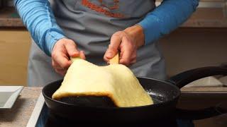 Ленивый хачапури на сковороде рецепт с сыром сулугуни