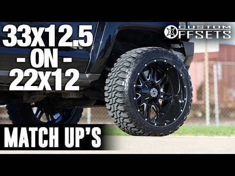 Custom Offsets Match Up 33x12 5 On 22x12 Youtube