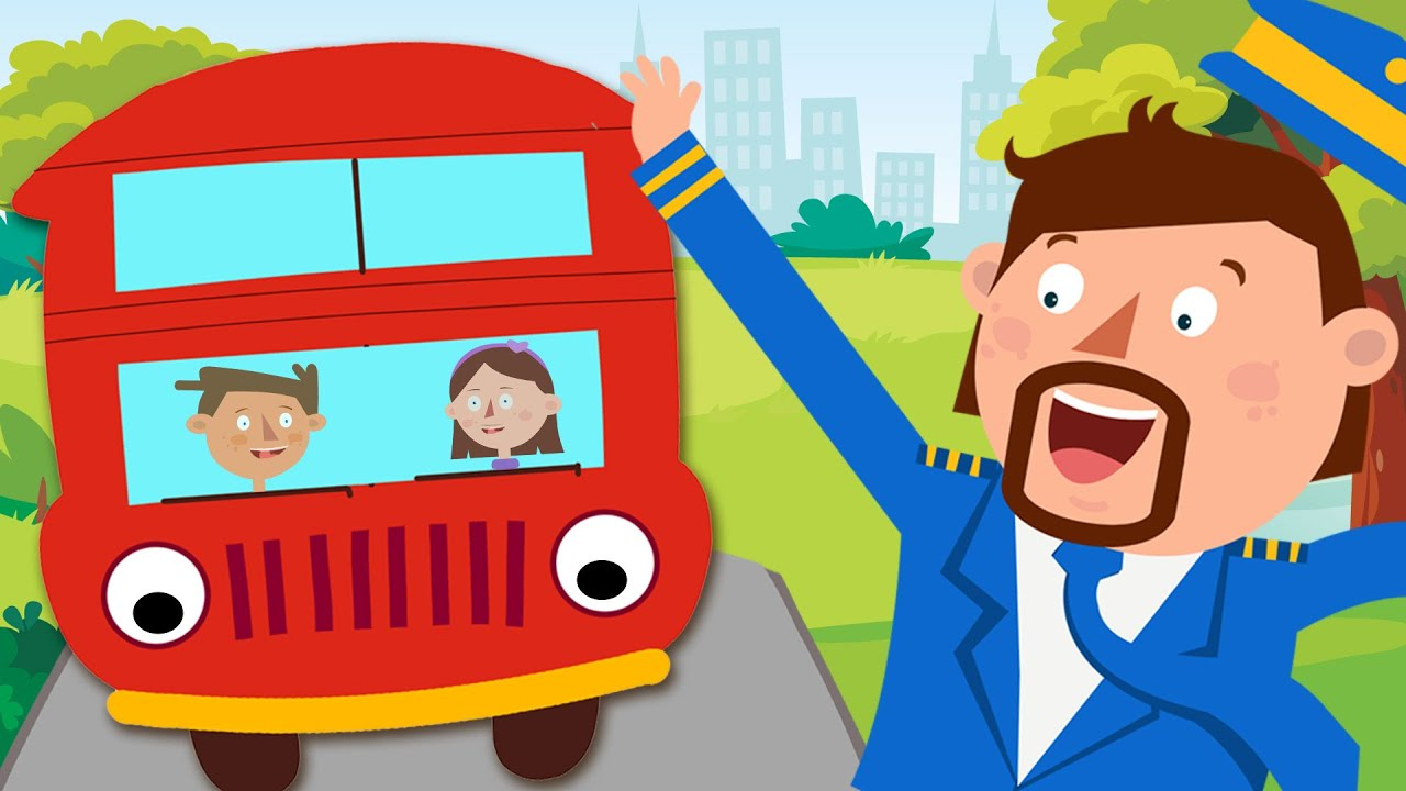 Wheels On The Bus Go Round And Round | Captain Discovery Nursery Rhymes & Kids Songs