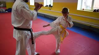 3 урок по Карате киокушинкай